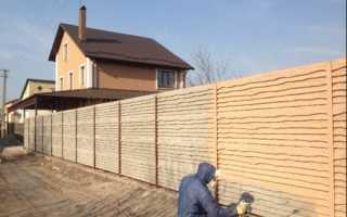 Как красить бетонный забор: подготовка, процесс и производители?
