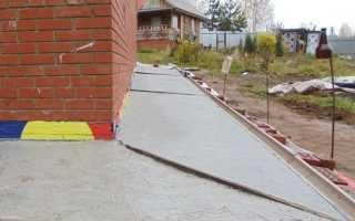 Железнение отмостки вокруг дома — защита бетона от разрушения