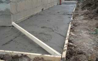 Марка бетона для отмостки — состав и пропорции смеси
