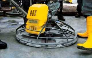 Затирочные машины по бетону: виды и производители