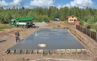 Подушка для фундамента из бетона: подготовка, армирование и заливка