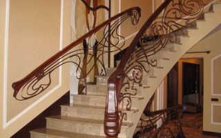 Перила бетонной лестницы: виды, материалы и установка