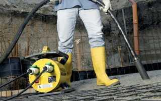Уплотнители бетона — обзор оборудования механического действия