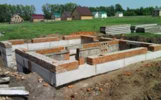 Сборный бетонный фундамент: виды, план основания, из блоков и плит