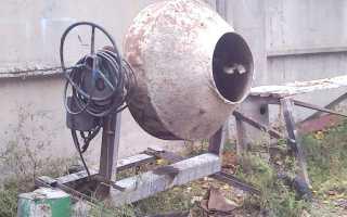 Как и чем отмыть бетономешалку от бетона?