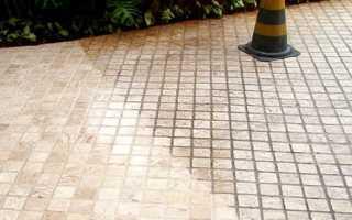 Как очистить тротуарную плитку от цемента и других загрязнений