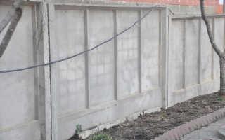 Забор из бетонных плит: виды и технология монтажа