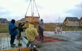 Как заливать бетон в дождь: марки, способы и технология