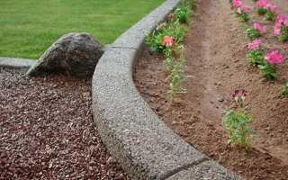 Как изготовить садовый бордюр для клумб и дорожек