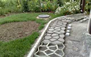Садовая дорожка из бетона своими руками: плюсы и минусы