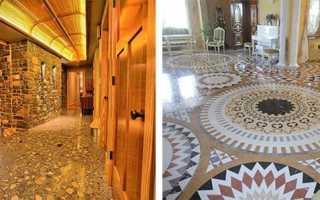 Полы из бетона мозаичного состава — технология укладки