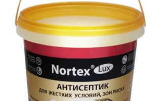 Антисептик для бетона Нортекс дезинфектор: действие и характеристики