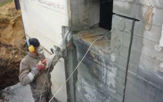 Резка проемов в бетоне: виды, инструменты и технология