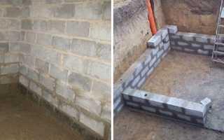 Можно ли строить подвал из пеноблоков
