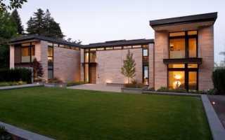 Дома из бетона и стекла: особенности, стеклянные веранды и примеры