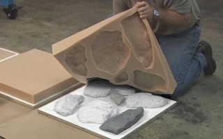 Формы для камня из бетона: штампы и трафареты