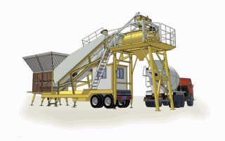 Мобильные бетонные заводы: назначение и производители