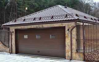 Чем покрыть крышу гаража из бетонных плит: односкатные и двускатные
