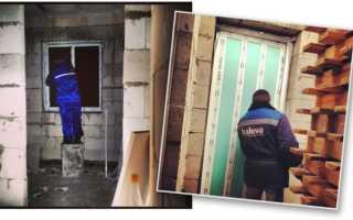 Установка окон в доме из газобетона: армирование проемов и монтаж