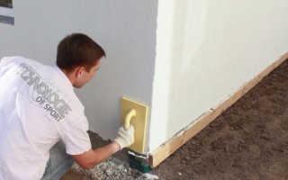 Наружная шпатлевка по бетону: технология и производители