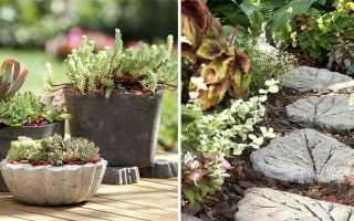 Изделия из бетона для сада и парка: виды и изготовление