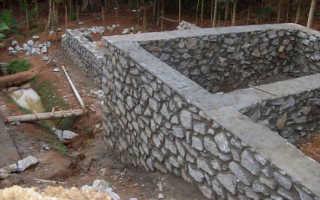 Бутобетонный фундамент: приготовление и установка