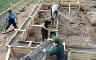 Глубина бетонного фундамента: монтаж?