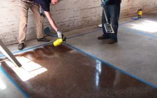 Окраска бетонных и оштукатуренных поверхностей: порядок работ