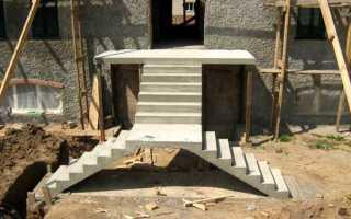 Входная бетонная лестница своими руками (устройство, изготовление)