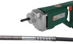 Портативный вибратор для бетона: конструкция, виды и производители