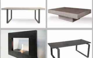 Мебель из бетона: тумба, полки, скамейка и технология производства