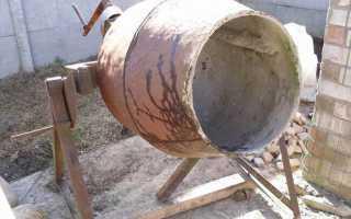 Как очистить бетономешалку от застывшего бетона