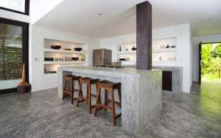 Барная стойка из бетона — отличная альтернатива обычному столу