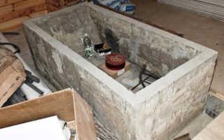 Ванна из бетона своими руками: этапы, монтаж и отделка