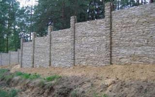 Заливка забора бетоном: виды монтажа и технология
