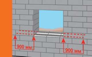 Армирование газобетона под оконными проемами, инструкция