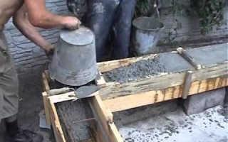 Заливка ростверка бетоном: технология бетонирования