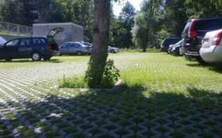 Бетонная газонная решетка: виды, технология укладки и применение