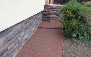 Отмостка из тротуарной плитки вокруг дома (устройство, укладка)
