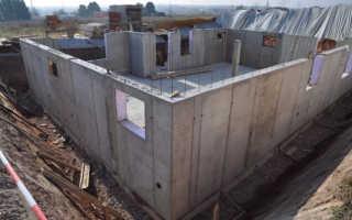 Монолитные железобетонные стены: технология производства