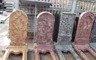 Памятники из бетона: инструменты, формы и производство