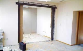 Бетонная несущая стена: как сломать или сделать проем?
