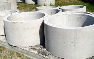 Объем бетонного кольца: разновидности и расчет опорного элемента