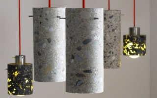 Светильники из бетона: подвесной и садовый