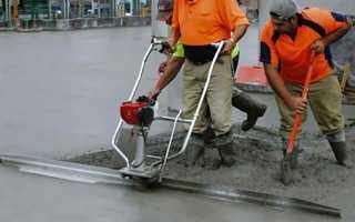 Виброрейка для бетона — разновидности и принцип действия