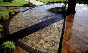 Декоративный бетон: разновидности и технология производства