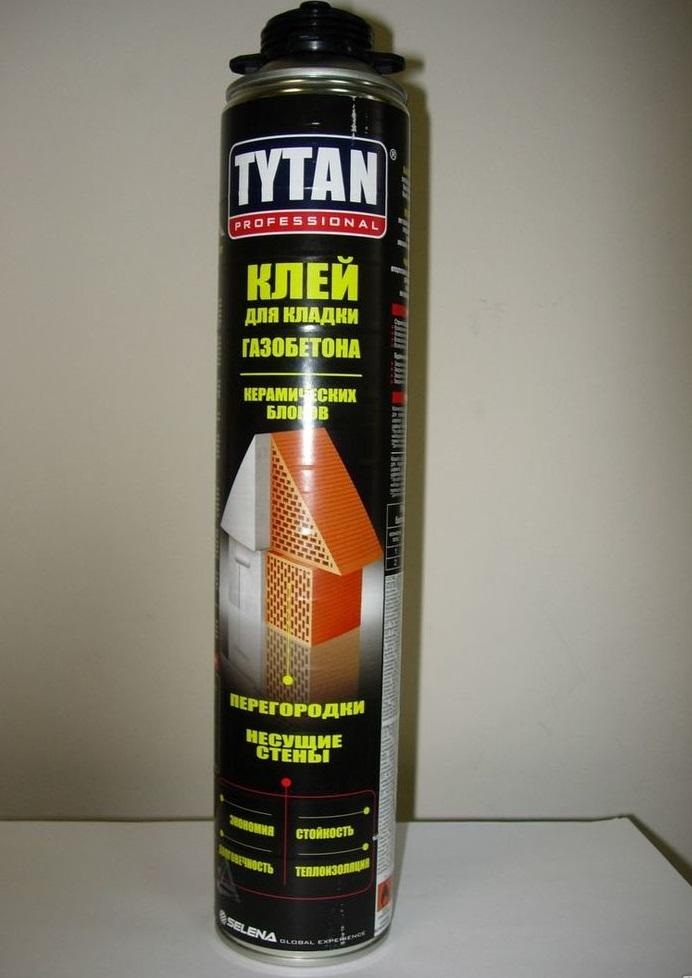 Клей-пена для газобетона Титан