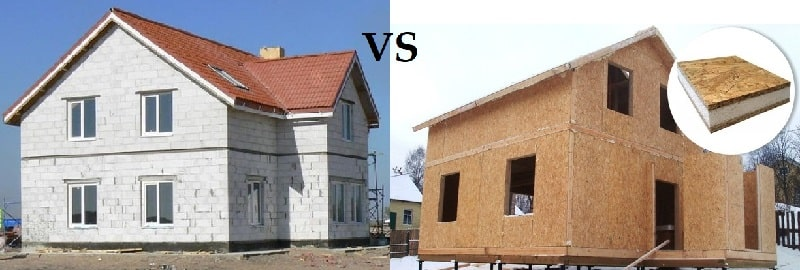 Сравнение газобетонного дома и СИП: обзор характеристик