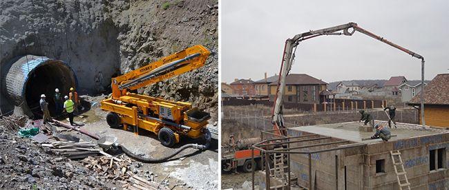Бетононасосы разного типа широко применяются как в частном строительстве, так и при возведения тоннелей