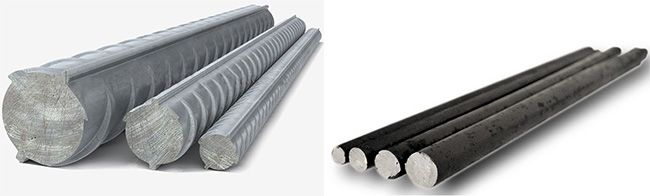 Разновидности стальных прутьев